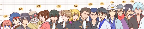 Tags: Anime, Pixiv Id 10249426, Gin Tama, Okita Sougo, Okada Nizou, Kagura (Gin Tama), Murata Tetsuya