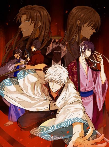 Tags: Anime, Pixiv Id 3569532, Gin Tama, Sakamoto Tatsuma, Utsuro (Gin Tama), Katsura Kotaro, Oboro (Gin Tama)