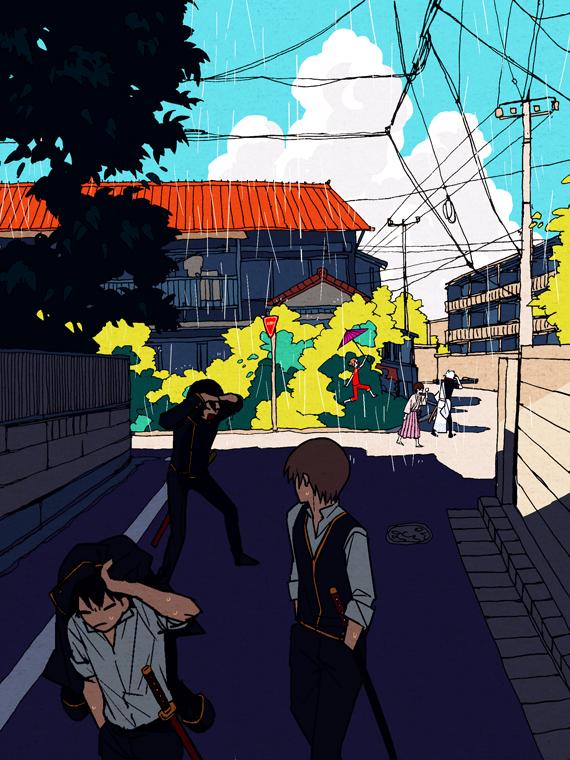 Tags: Anime, Pixiv Id 14791009, Gin Tama, Okita Sougo, Hijikata Toushirou, Yamazaki Sagaru, Sakata Gintoki