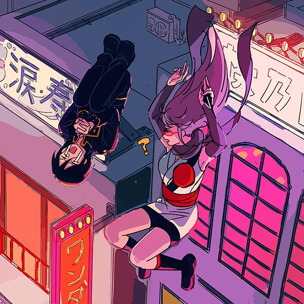 Tags: Anime, Pixiv Id 14791009, Gin Tama, Yamazaki Sagaru, Sarutobi Ayame, Kunai, Red-framed Glasses