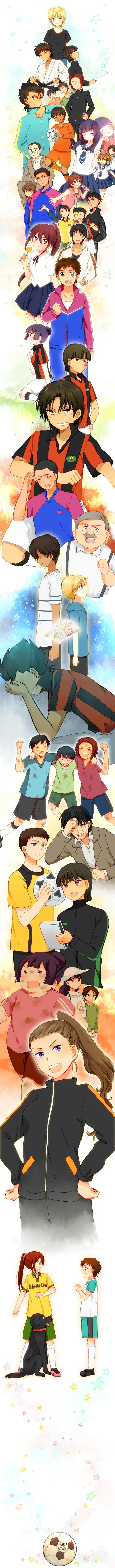 Tags: Anime, Nuka, Ginga e Kickoff!!, Saionji Reika, Oota Shou, Furuya Ouzou, Hanashima Masaru, Takatoo Erika, Kageura Akira, Sugiyama Tagi, Saionji Kimie, Furuya Kota, Uchimura Katsura