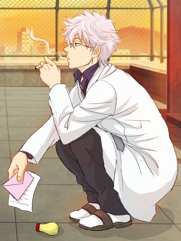 Tags: Anime, Pixiv Id 696179, Gintama, Ginpachi-sensei, Sakata Gintoki, Mayonnaise, 3z, Pixiv, Fanart From Pixiv, Fanart, Mobile Wallpaper