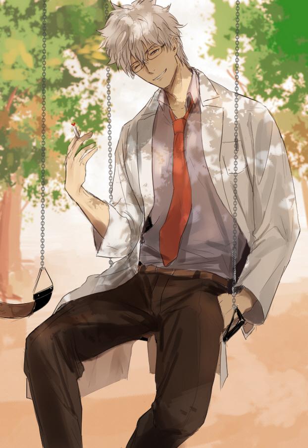 Tags: Anime, Pixiv Id 6559339, Gintama, Ginpachi-sensei, Sakata Gintoki, Pixiv, 3z, Fanart From Pixiv, Fanart