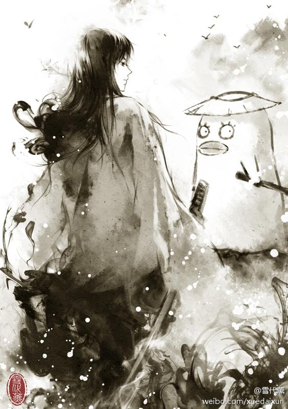Tags: Anime, Xuedaixun, Gintama, Ko Elizabeth, Katsura Kotaro, Bird Costume, Fanart, Mobile Wallpaper, Pixiv, Fanart From Pixiv, Silver Soul