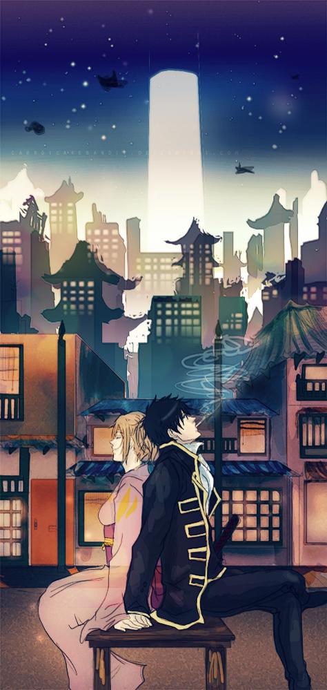 Tags: Anime, CarrotCakeBandit, Gintama, Okita Mitsuba, Hijikata Toushirou, Fanart, deviantART, Fanart From DeviantART, HijiMitsu, Silver Soul