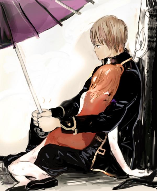 Tags: Anime, Pixiv Id 4277119, Gintama, Kagura (Gin Tama), Okita Sougo, Fanart From Pixiv, Fanart, Pixiv, OkiKagu, Silver Soul