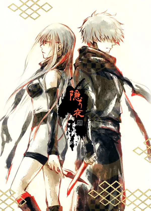 Tags: Anime, Acaco, Gintama, Hattori Zenzou, Sarutobi Ayame, Tantou, Mobile Wallpaper, ZenSachi, Silver Soul