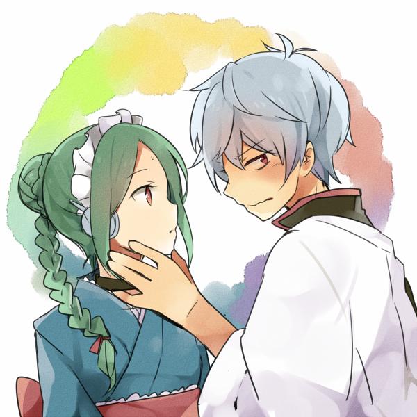 Tags: Anime, Pixiv Id 2138994, Gintama, Tama (Gin Tama), Sakata Gintoki, Pixiv, Fanart From Pixiv, PNG Conversion, Fanart, Silver Soul