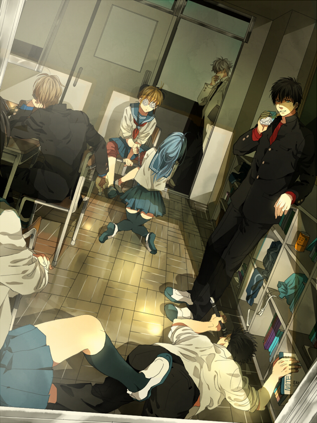 Tags: Anime, Natsuchiku, Gintama, Kondo Isao, Okita Sougo, Sarutobi Ayame, Hijikata Toushirou, Shimura Tae, Sakata Gintoki, Kagura (Gin Tama), Ginpachi-sensei, Swirly Glasses, Flute, Silver Soul