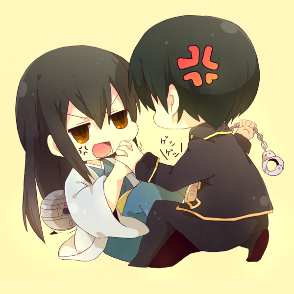 Tags: Anime, Pixiv Id 2454202, Gintama, Katsura Kotaro, Hijikata Toushirou, PNG Conversion, Fanart, Pixiv, Fanart From Pixiv, HijiZura