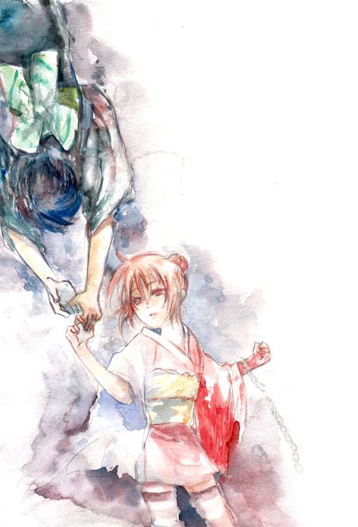 Tags: Anime, Pixiv Id 147003, Gintama, Kagura (Gin Tama), Shimura Shinpachi, Yoshiwara Arc, Pixiv, Fanart From Pixiv, Fanart, ShinKagu