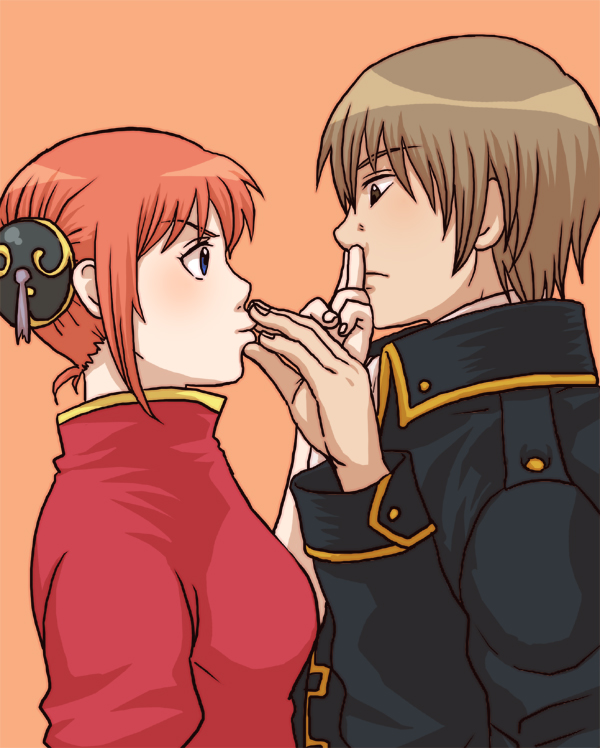 Tags: Anime, Tachibana76, Gintama, Kagura (Gin Tama), Okita Sougo, Fanart, Pixiv, Fanart From Pixiv, OkiKagu
