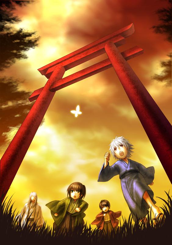 Tags: Anime, Miyajima Haru, Gintama, Katsura Kotaro, Takasugi Shinsuke, Sakata Gintoki, Yoshida Shouyou, Fanart, Mobile Wallpaper, Pixiv, Joui, Silver Soul
