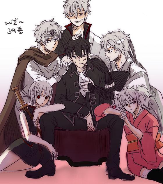 Tags: Anime, Coma5, Gintama, Hijikata Toushirou, Paako, Sakata Gintoki, Shiroyasha, Ginko (Gin Tama), Leukocyte King, Yaoi Harem, Wig, Harem, Pixiv, Silver Soul