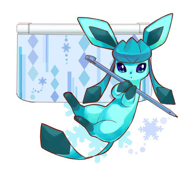 Tags: Anime, Rikovui, Pokémon, Glaceon, Nintendo 3DS, Fanart, Fanart From Pixiv, Pixiv