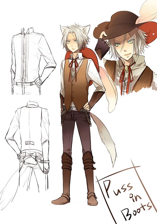 Tags: Anime, Puss In Boots, Katekyo Hitman REBORN!, Gokudera Hayato, Hat Feather, Mobile Wallpaper
