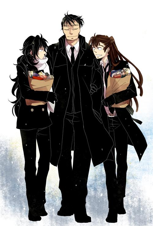 Tags: Anime, Rakudai Ninja Rantarou, Kinoshita Tetsumaru, Ohama Kanemon, Kukuchi Heisuke, Fanart, Gonensei
