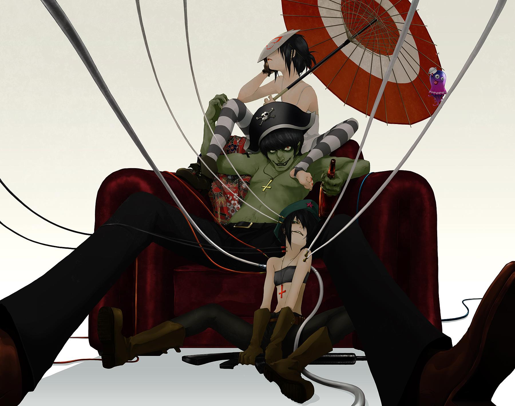 Anime Character 2d : Gorillaz band image  zerochan anime board