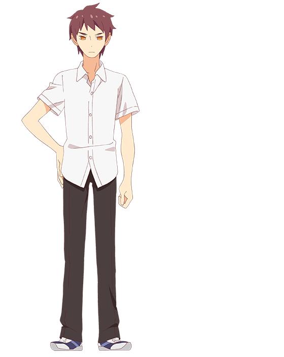 Tags: Anime, Sumimoto Etsuko, Studio Gokumi, Tsurezure Children, Gouda Takeru (Tsurezure Children), PNG Conversion, Official Art, Cover Image