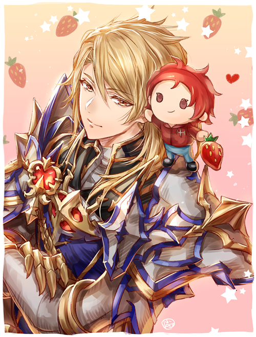 Tags: Anime, Himeichiko, Granblue Fantasy, Percival (Granblue Fantasy), Aglovale (Granblue Fantasy), Mobile Wallpaper, PNG Conversion
