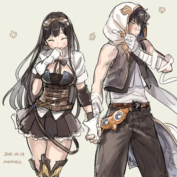 Tags: Anime, Momose (oqo), Granblue Fantasy, Ayer (Granblue Fantasy), Jessica (Granblue Fantasy), Patch On The Nose, PNG Conversion, Pixiv, Fanart, Fanart From Pixiv