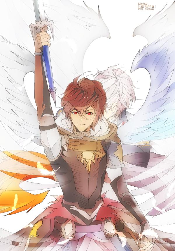 Tags: Anime, Pixiv Id 2073700, Granblue Fantasy, Lucifer (Shingeki no Bahamut), Sandalphon (Granblue Fantasy), Pixiv, Fanart, Fanart From Pixiv