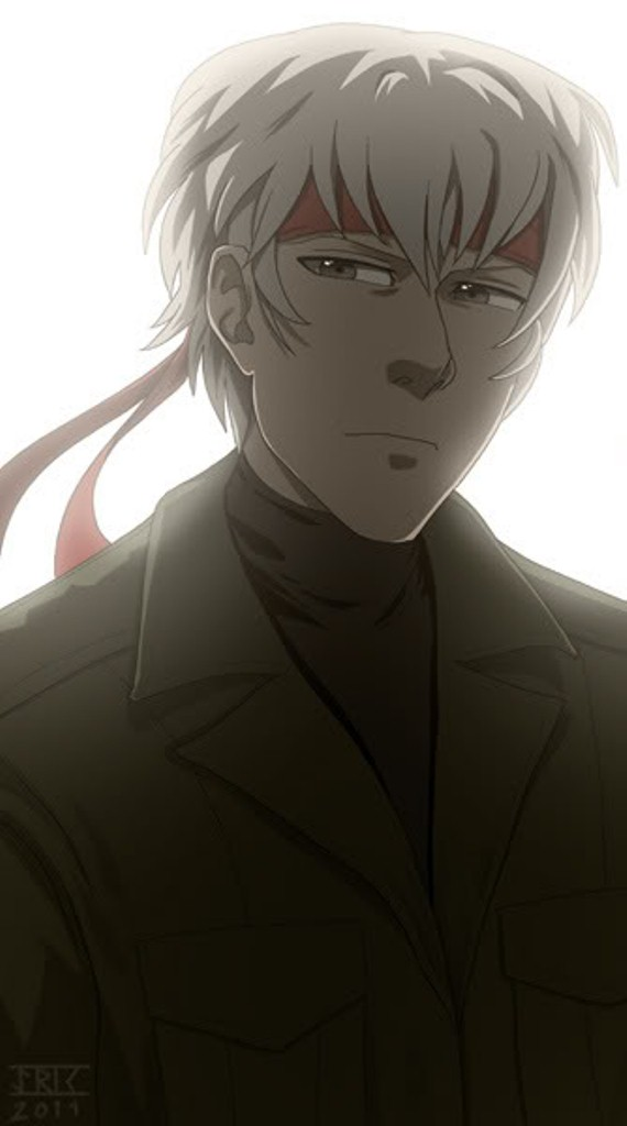 Tags: Anime, KONAMI (Studio), Metal Gear Solid, Gray Fox, Backlight, Fanart