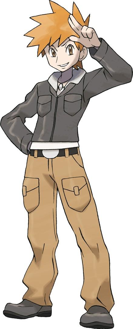 Tags: Anime, Sugimori Ken, Nintendo, GAME FREAK, Pokémon, Green (Pokémon), Cover Image, Official Art, Gary Oak