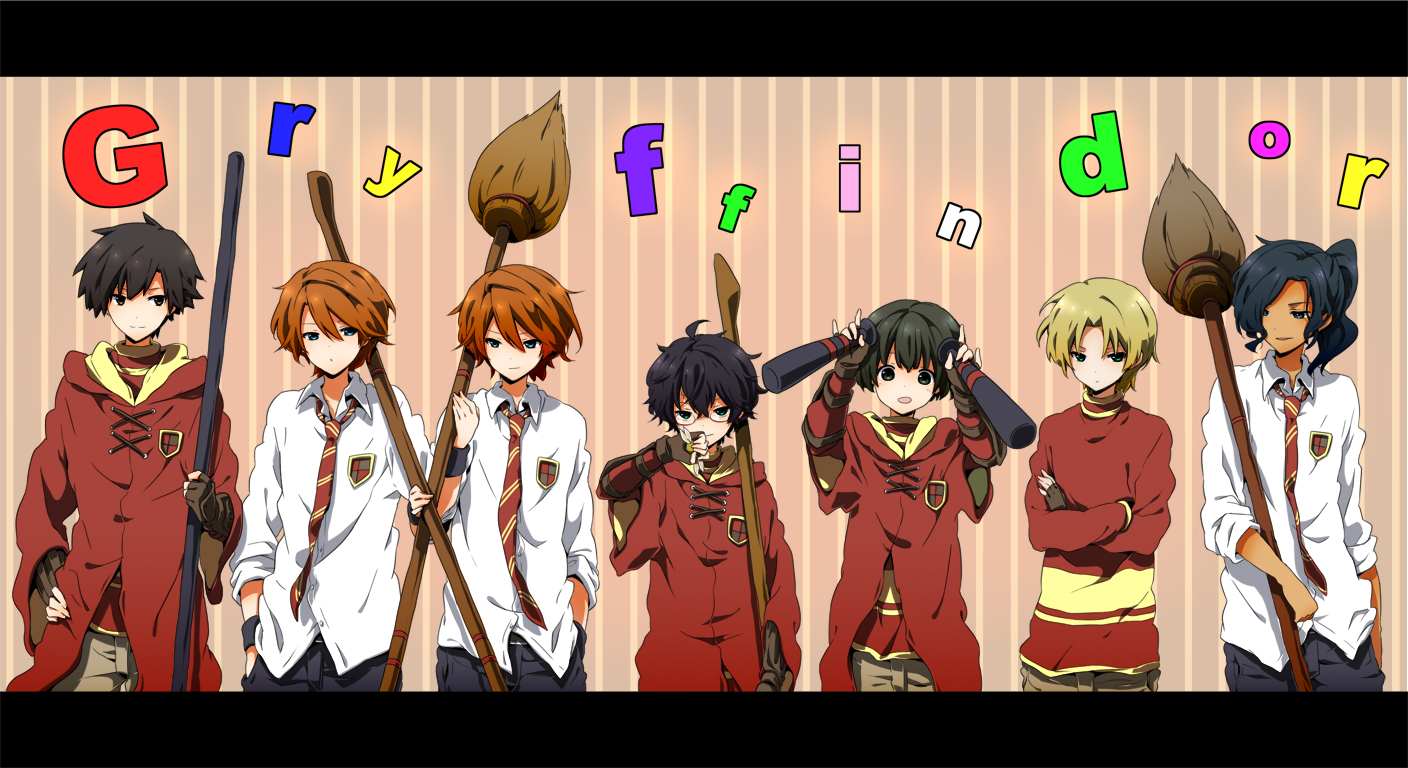 Anime Characters Hogwarts Houses : Gryffindor house harry potter image