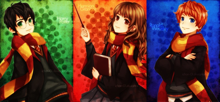 Tags: Harry Potter, Hermione Granger, Harry Potter (Character), Ron Weasley, Gryffindor House, Ichan-01, Facebook Cover