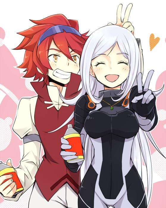 Tags: Anime, Pixiv Id 3588178, Gundam Build Fighters, Aila Jyrkiäinen, Reiji (Gundam Build Fighters), Fanart From Pixiv, Pixiv, Fanart