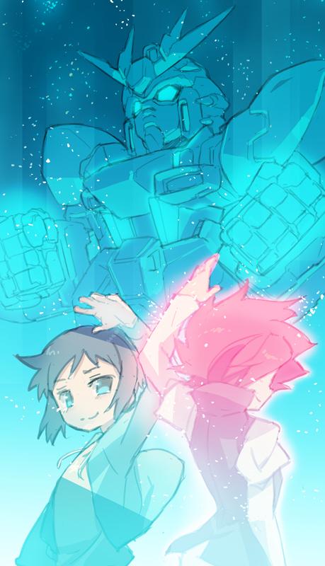 Tags: Anime, Blade (Lovewn), Gundam Build Fighters, Iori Sei, GAT-X105B/ST Star Build Strike Gundam, Reiji (Gundam Build Fighters), Pixiv, Fanart, Fanart From Pixiv