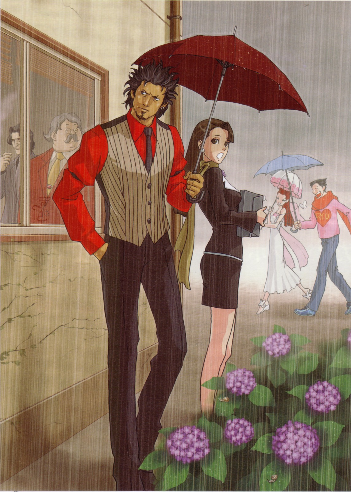 capcom ace attorney official art
