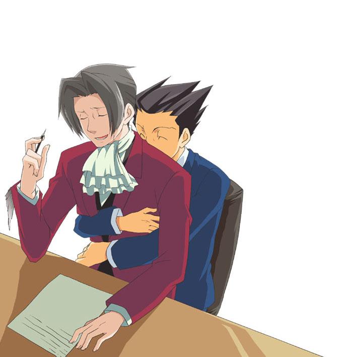 Tags: Anime, Gyakuten Saiban, Mitsurugi Reiji, Naruhodou Ryuuichi, Phoenix Wright: Ace Attorney