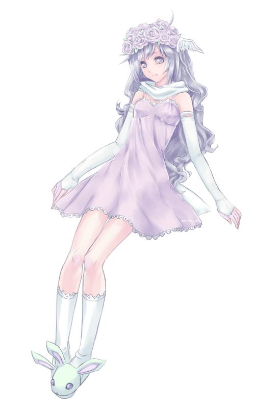 Tags: Anime, Hachiyuki, Bunny Slippers, Original, Mobile Wallpaper