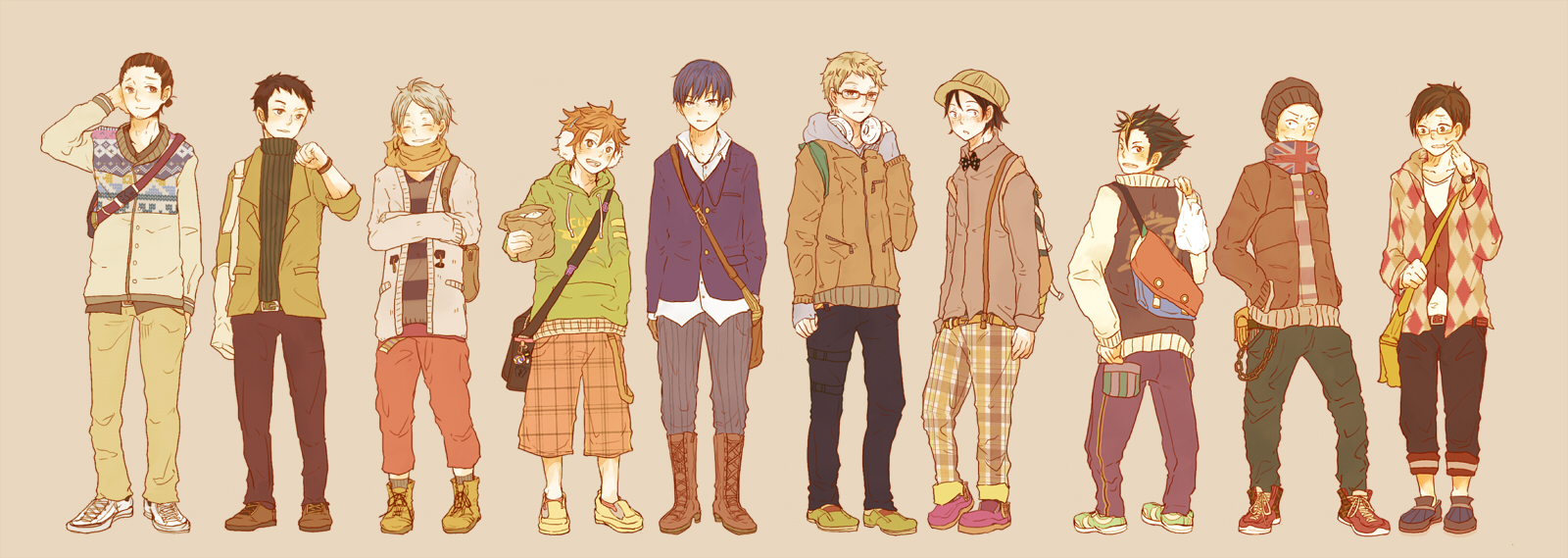 anime clothing styles for boys