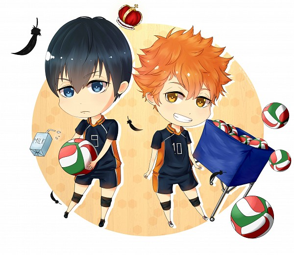 Tags: Anime, Ai-m, Haikyuu!!, Kageyama Tobio, Hinata Shouyou, Milk, Volleyball