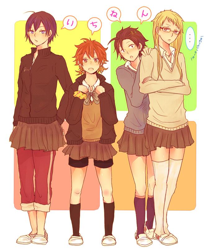 Tags: Anime, Pixiv Id 1835328, Haikyuu!!, Yamaguchi Tadashi, Tsukishima Kei, Kageyama Tobio, Hinata Shouyou, Fanart From Pixiv, Pixiv, Fanart