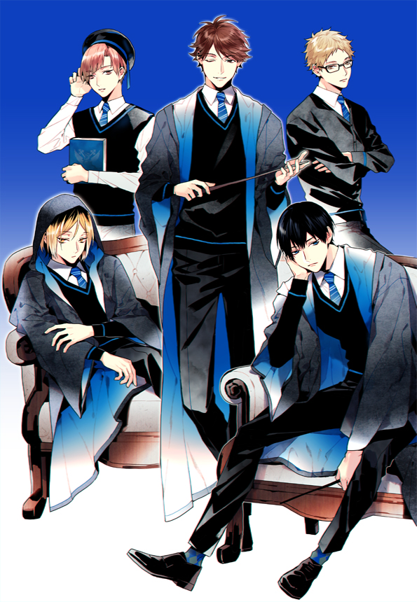 Tags: Anime, Pixiv Id 2569191, Haikyuu!!, Kageyama Tobio, Shirabu Kenjirou, Kozume Kenma, Oikawa Tooru, Tsukishima Kei, Harry Potter (Cosplay), Ravenclaw (Cosplay), Harry Potter (Parody), Ravenclaw House