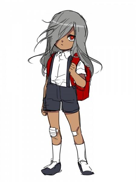 Tags: Anime, Pixiv Id 18478411, Inazuma Eleven: Ares no Tenbin, Haizaki Ryouhei, Side Bangs, One Eye Showing, Multi-colored Eyes