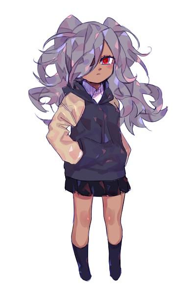 Tags: Anime, Pixiv Id 18478411, Inazuma Eleven: Ares no Tenbin, Haizaki Ryouhei, Multi-colored Eyes, Asymmetrical Bangs, Side Bangs