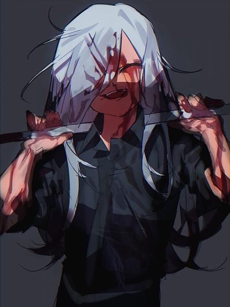 Tags: Anime, Pixiv Id 18478411, Inazuma Eleven: Ares no Tenbin, Haizaki Ryouhei, One Eye Showing, Black Shirt, Asymmetrical Bangs