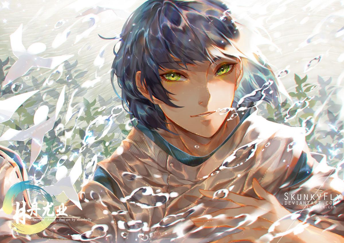 Haku Sen To Chihiro No Kamikakushi Spirit Of The Kohaku River Image 2391009 Zerochan Anime Image Board