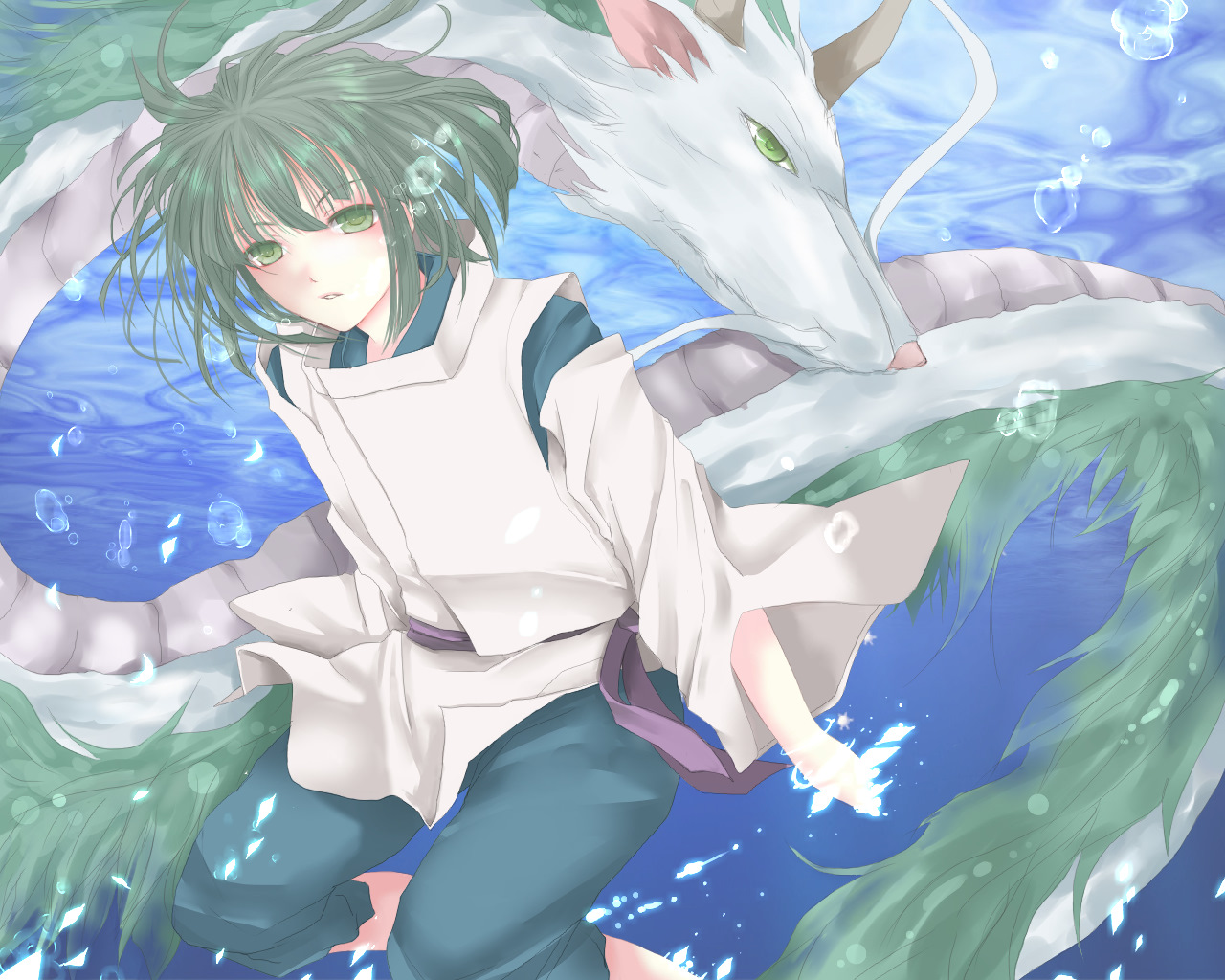 Haku Sen To Chihiro No Kamikakushi Spirit Of The Kohaku River Zerochan Anime Image Board