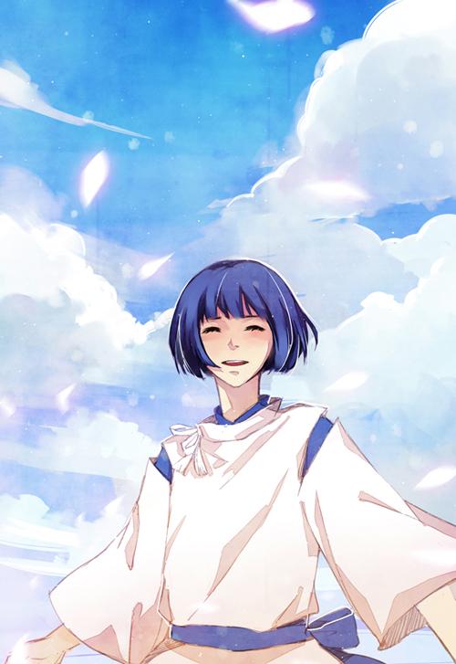 Tags: Anime, Ka Xiao En Ka Shu, Studio Ghibli, Sen to Chihiro no Kamikakushi, Haku (Sen to Chihiro no Kamikakushi), Mobile Wallpaper, Fanart, Pixiv, Spirit Of The Kohaku River