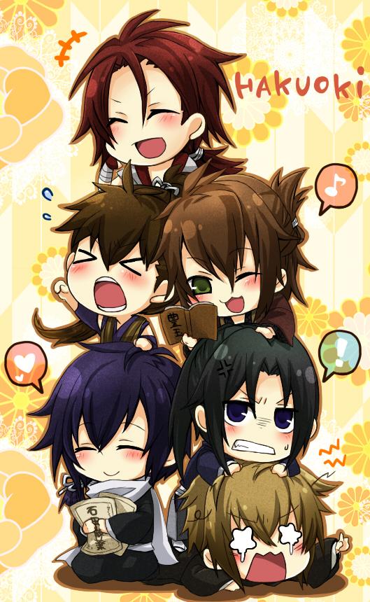 Tags: Anime, Kazuki Yone, IDEA FACTORY, Hakuouki Shinsengumi Kitan, Okita Souji (Hakuouki), Saitou Hajime (Hakuouki), Hijikata Toshizou (Hakuouki), Kazama Chikage, Harada Sanosuke (Hakuouki), Toudou Heisuke (Hakuouki), Mobile Wallpaper, Demon Of The Fleeting Blossom