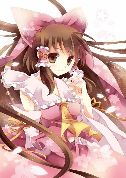 Tags: Anime, Mineko, Touhou, Hakurei Reimu, Hair Tubes, Cherry Tree