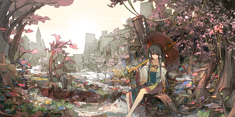 Девушка на балконе японское аниме  № 3866841 бесплатно