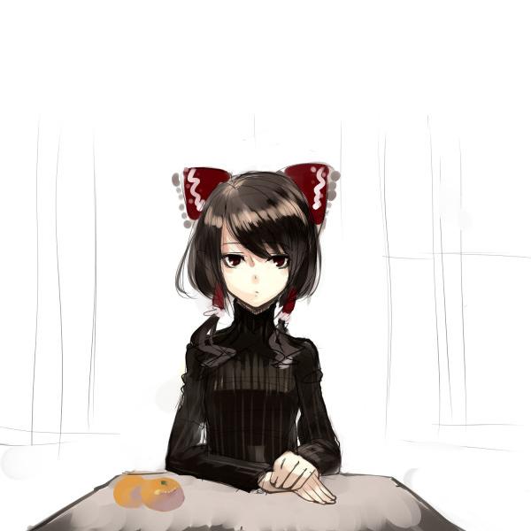 Tags: Anime, Miya9, Touhou, Hakurei Reimu, Contemporary, Sketch, Fanart, Pixiv, Reimu Hakurei