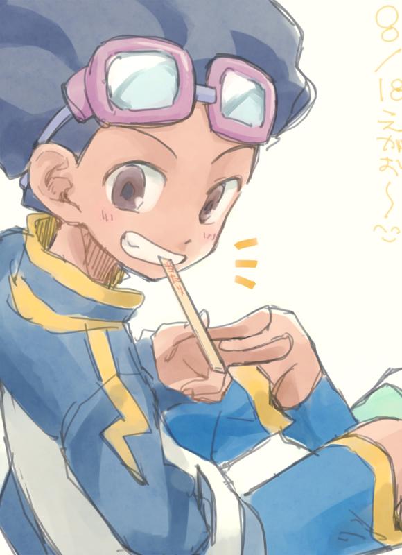Tags: Anime, Pixiv Id 2071470, Inazuma Eleven GO, Hamano Kaiji, Goggles Off, Goggles On Head, Blue Footwear